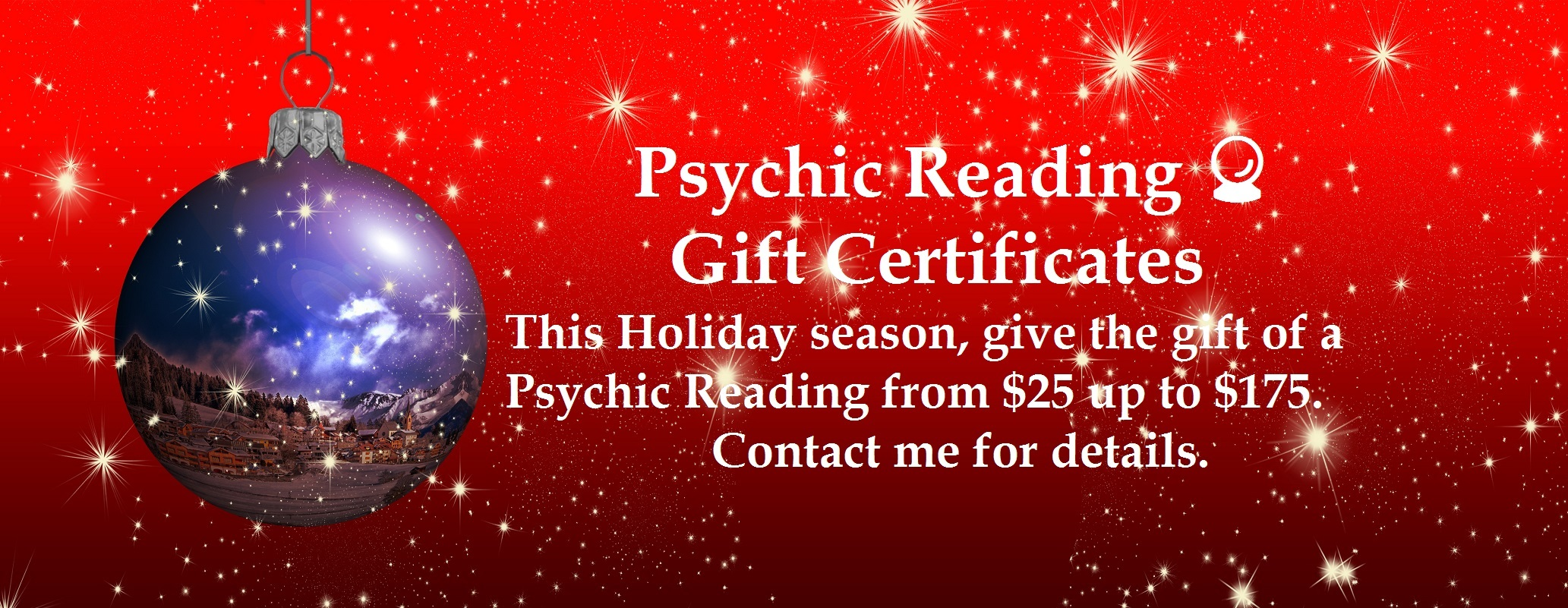 Gift Certificates, Psychic Readings, Email Reading, Holiday Season 2017